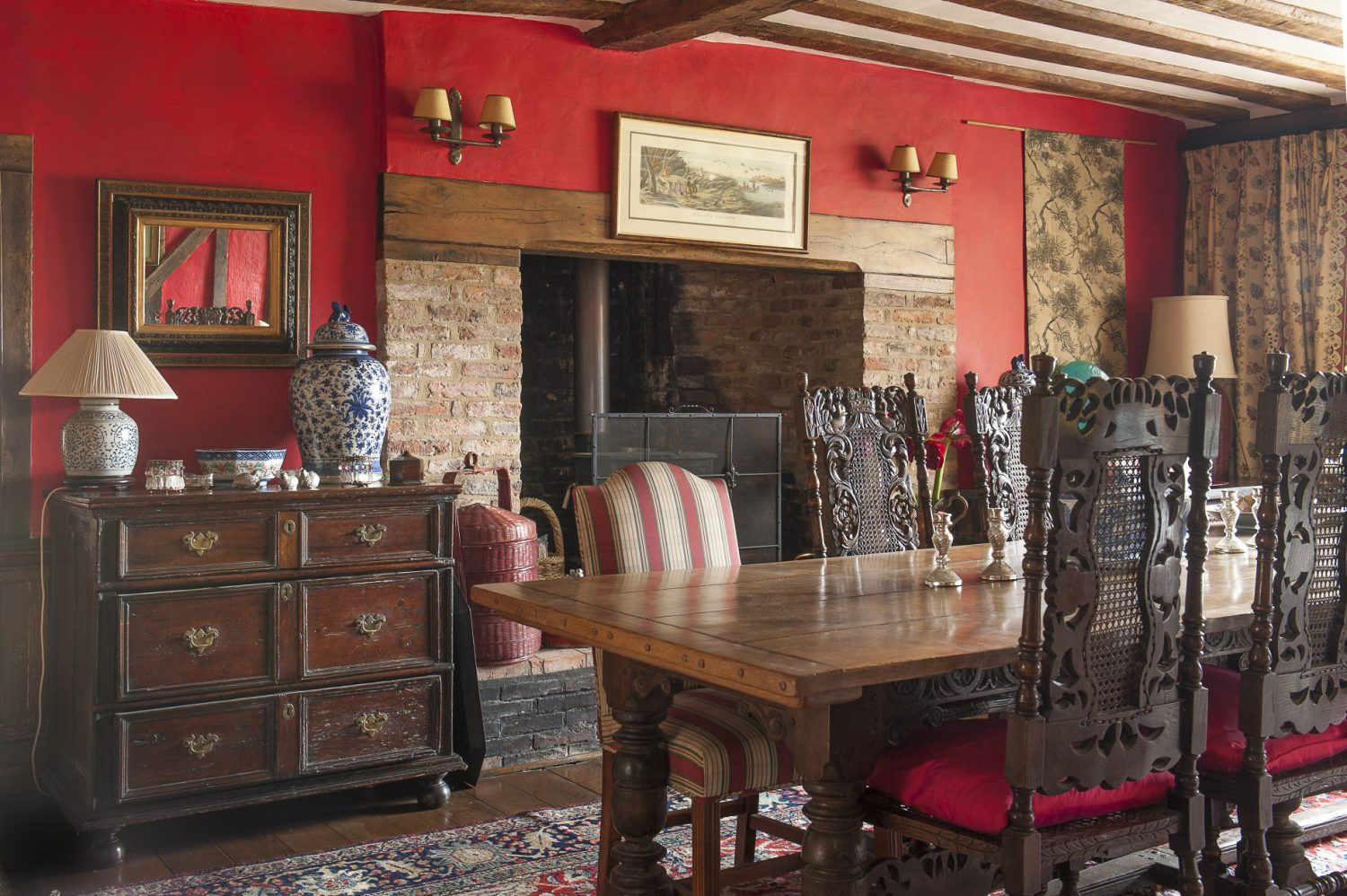 The dining room is in fact the oldest in the house