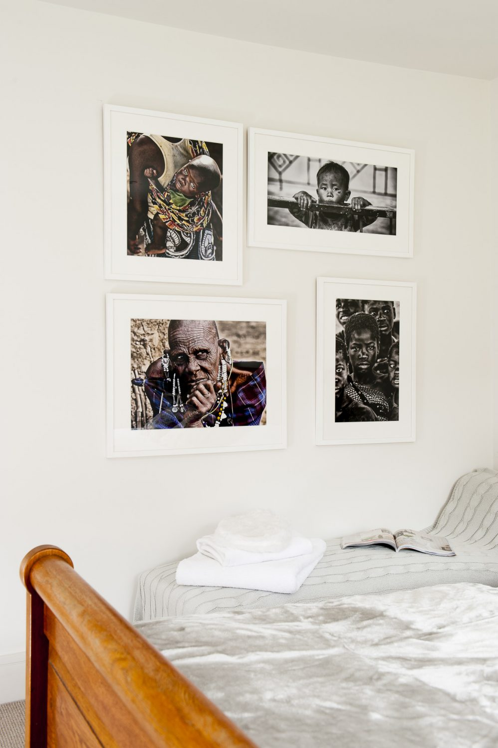Ali's photographs, taken on her travels, are on display throughout the house