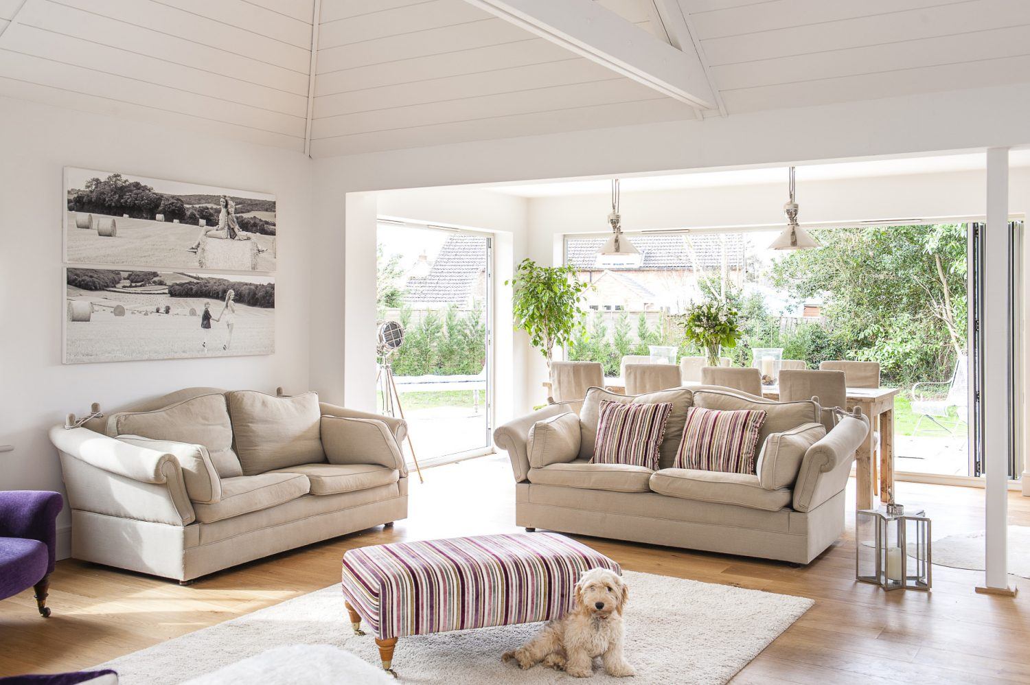 Ali finds decorating inspiration online through Houzz or Pinterest as well as from her childhood friend, Linda, who is a house builder and designer in Haut Bay in South Africa. She's certainly created a contemporary but homely feel, with pops of colour and photographic prints injecting interest and informality