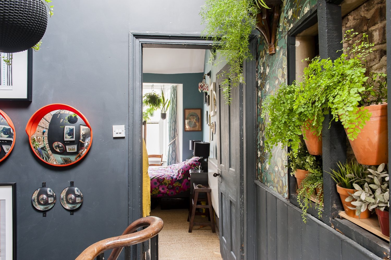 """I need greenery and we don't really have a garden, so I have brought it inside. A lot of the plants are from Mao Bramall at Shimizu, the florist's further along the high street."