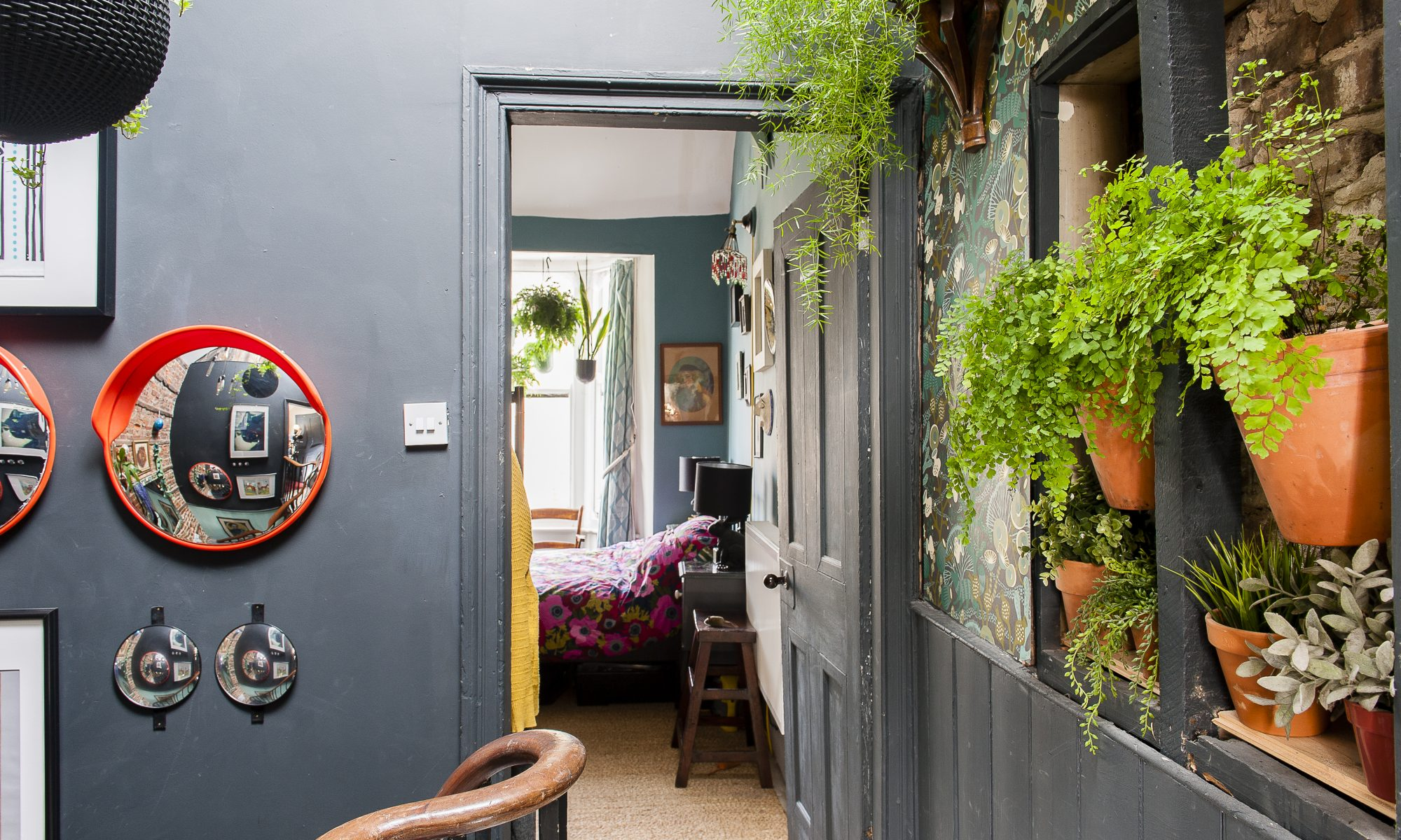 """""""I need greenery and we don't really have a garden, so I have brought it inside. A lot of the plants are from Mao Bramall at Shimizu, the florist's further along the high street."""