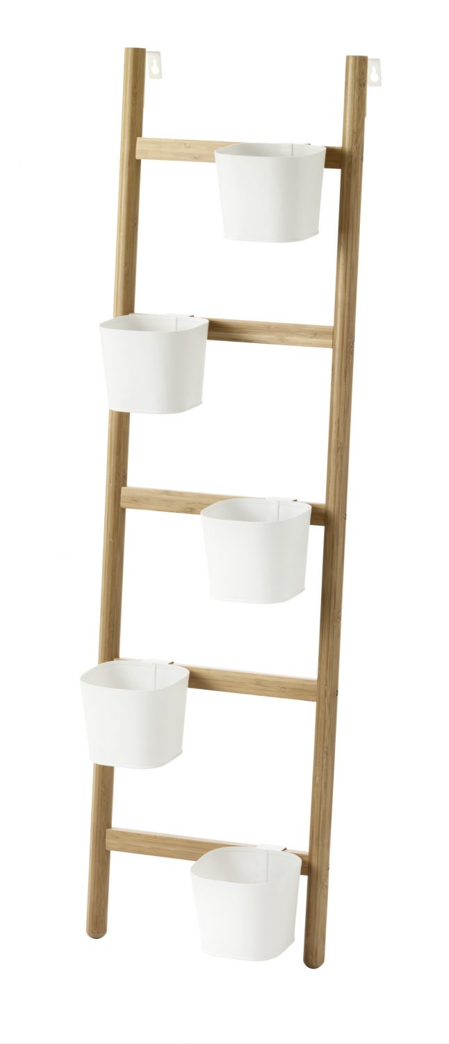 SATSUMAS plant stand with 5 plant pots, £30