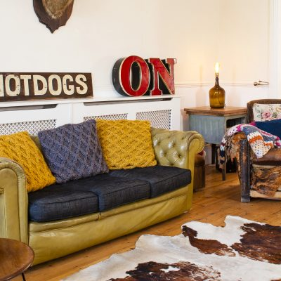 A collection of quirky finds and object trouves transforms this classic Victorian villa into a funky pad with industrial glamour
