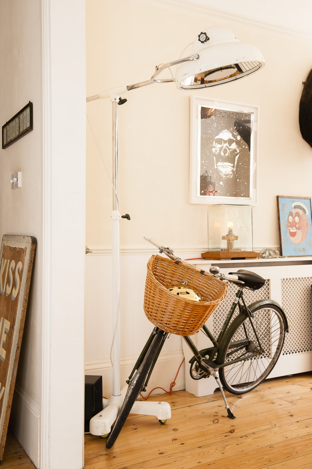 The bicycle is from Bell's Bicycles in Hastings Old Town and the picture of a sailor was from McCully & Crane