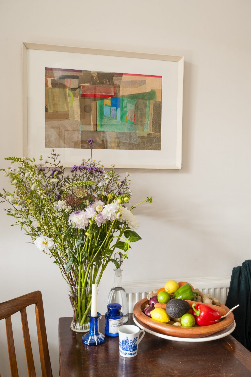 """""""I never take 'stuff' with me when I move, but I always take my artworks,"""" says Christine. I'm not sentimental about 'things' but I love art."""""""