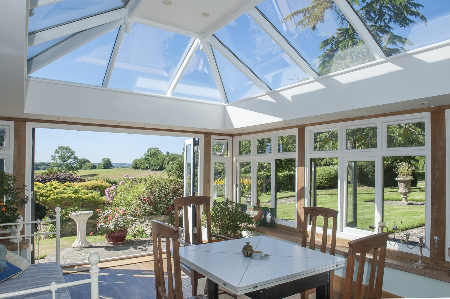 The view from the garden room