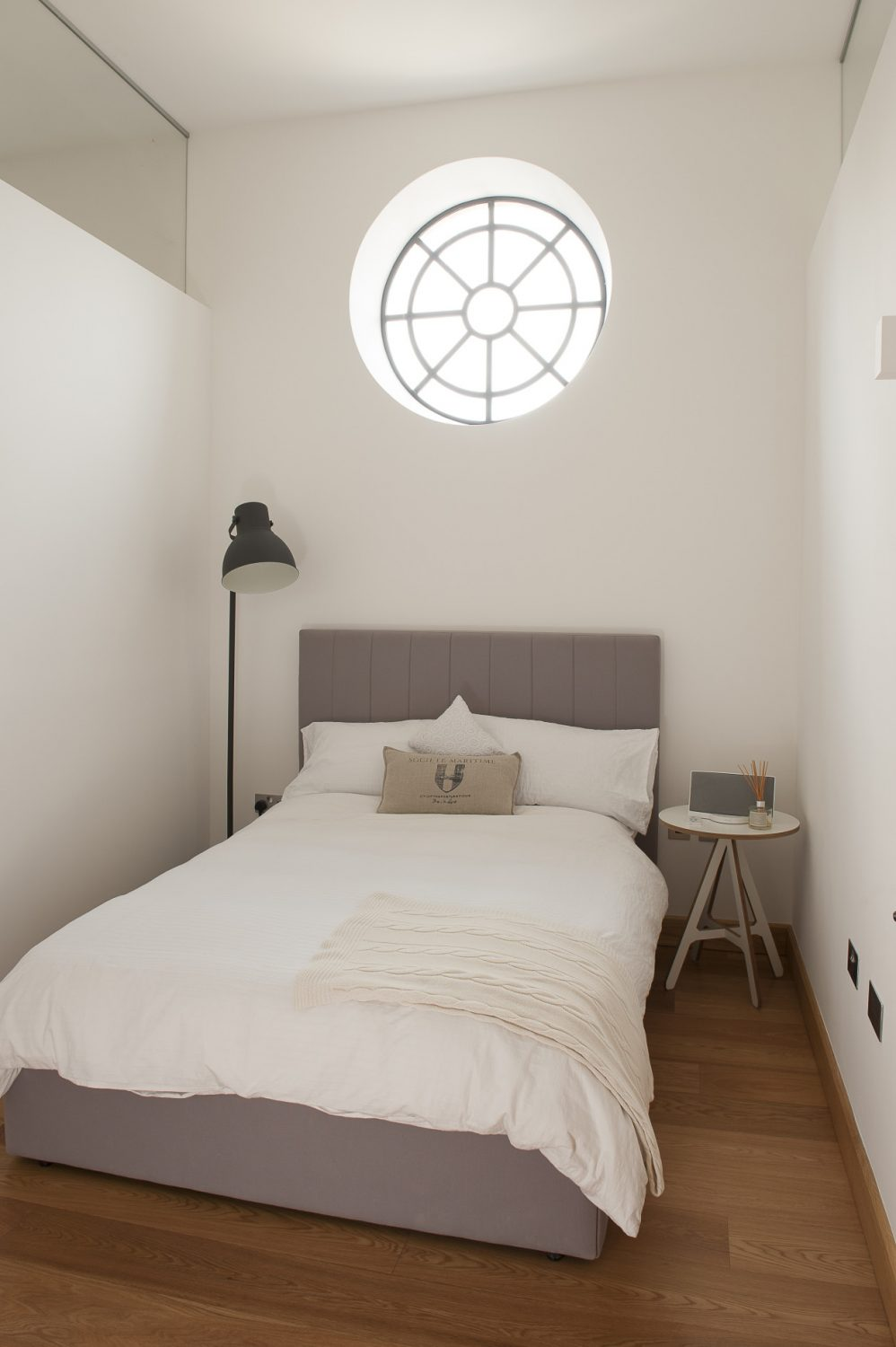 One of the guest rooms with feature window