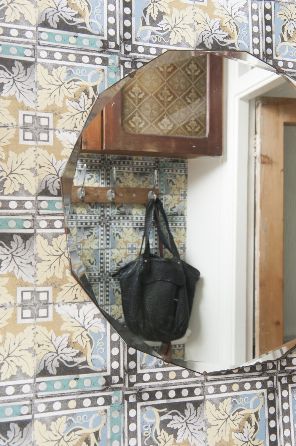 The wallpaper in the porch is Louise's design Grapevine, from the Paper Tiles collection