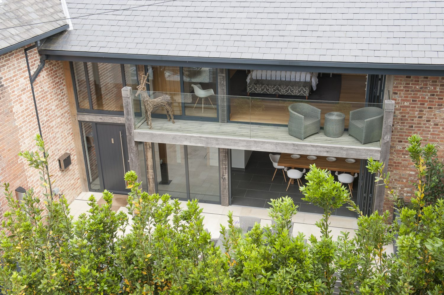 The design makes the most of the outside space