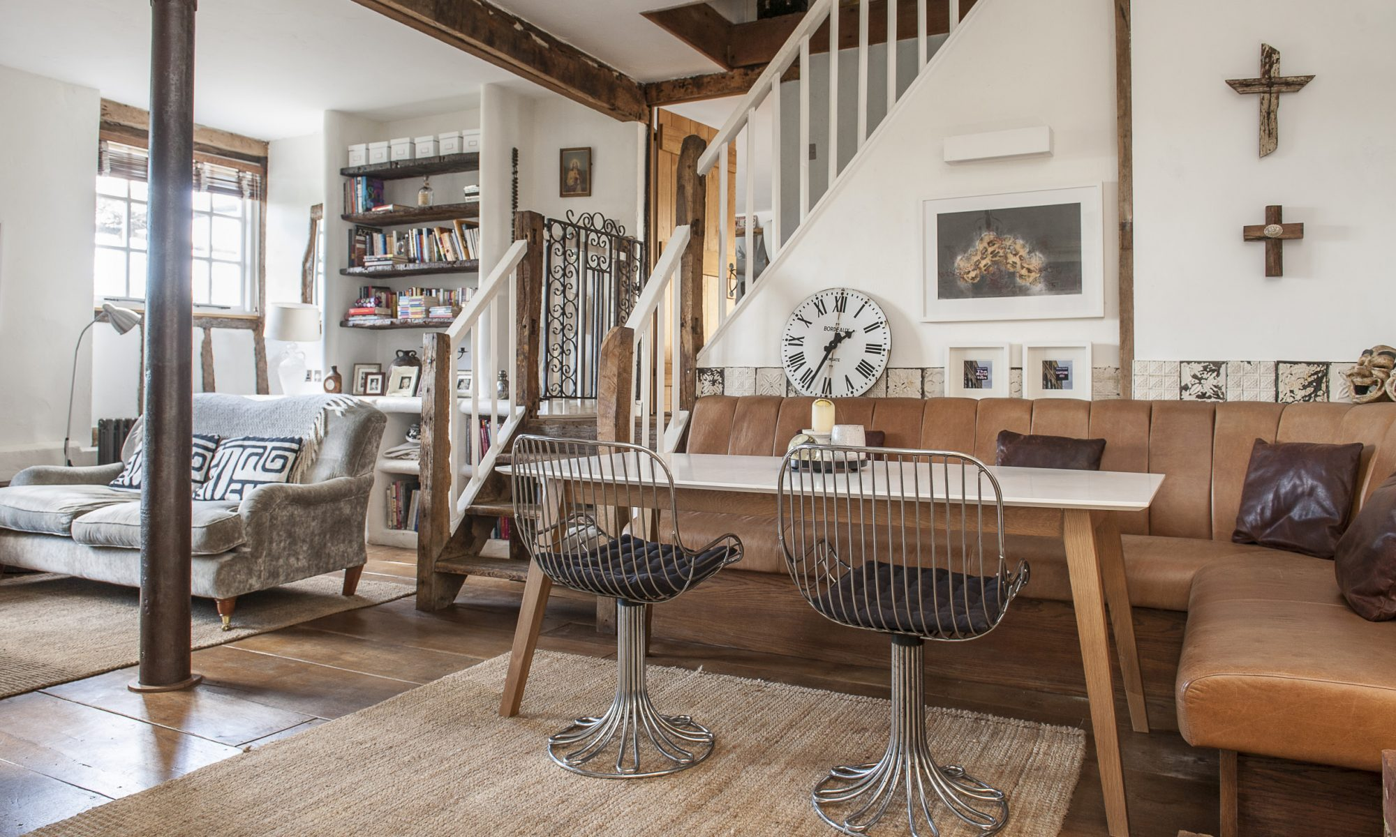 Blending soaring ceilings with middle-eastern furniture finds, the success of Lorraine Kerr's barn conversion lies in her ability to inject a little quirkiness into a traditional, beamed interior to create a stunning family home...