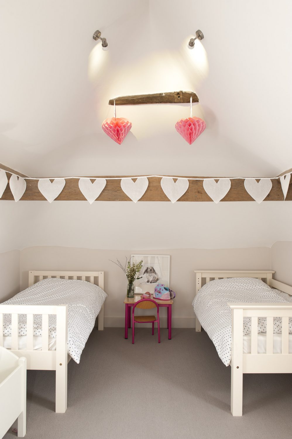 """""""We renovated the first two floors of the house first,"""" says Perrine, """"and then had to wait while we got planning permission for our plans for the top floor."""" Thankfully, approval was granted, and the children now love their cosy rooms"""