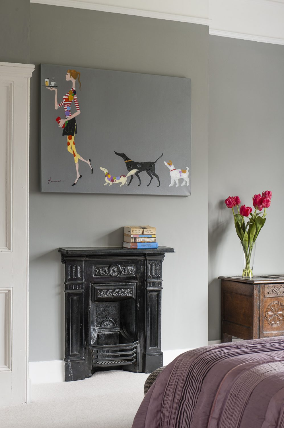 """On the two upper floors, there were originally eight bedrooms but Catherine and Rupert's remodelling has brought it down to six bedrooms and four bathrooms. """"It's a much more workable balance for a family,"""" says Catherine"""
