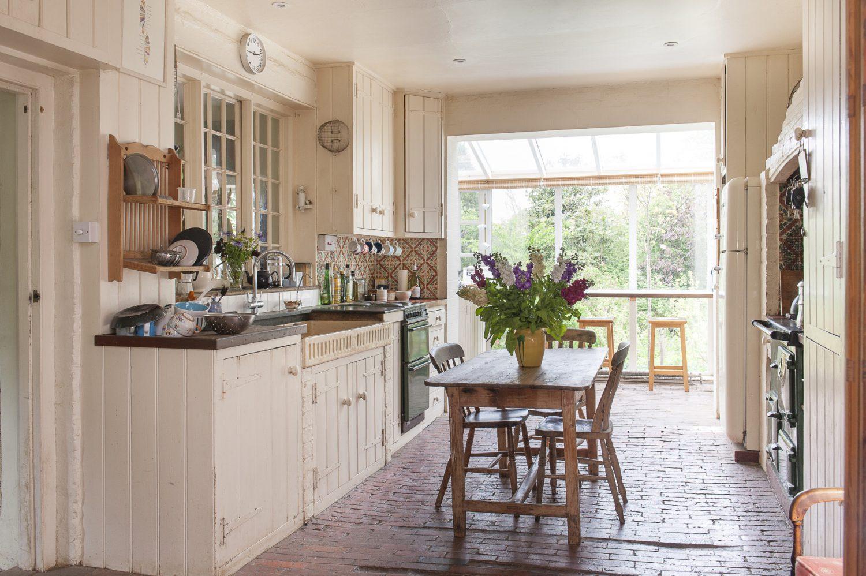 The kitchen overlooks the wonderful garden