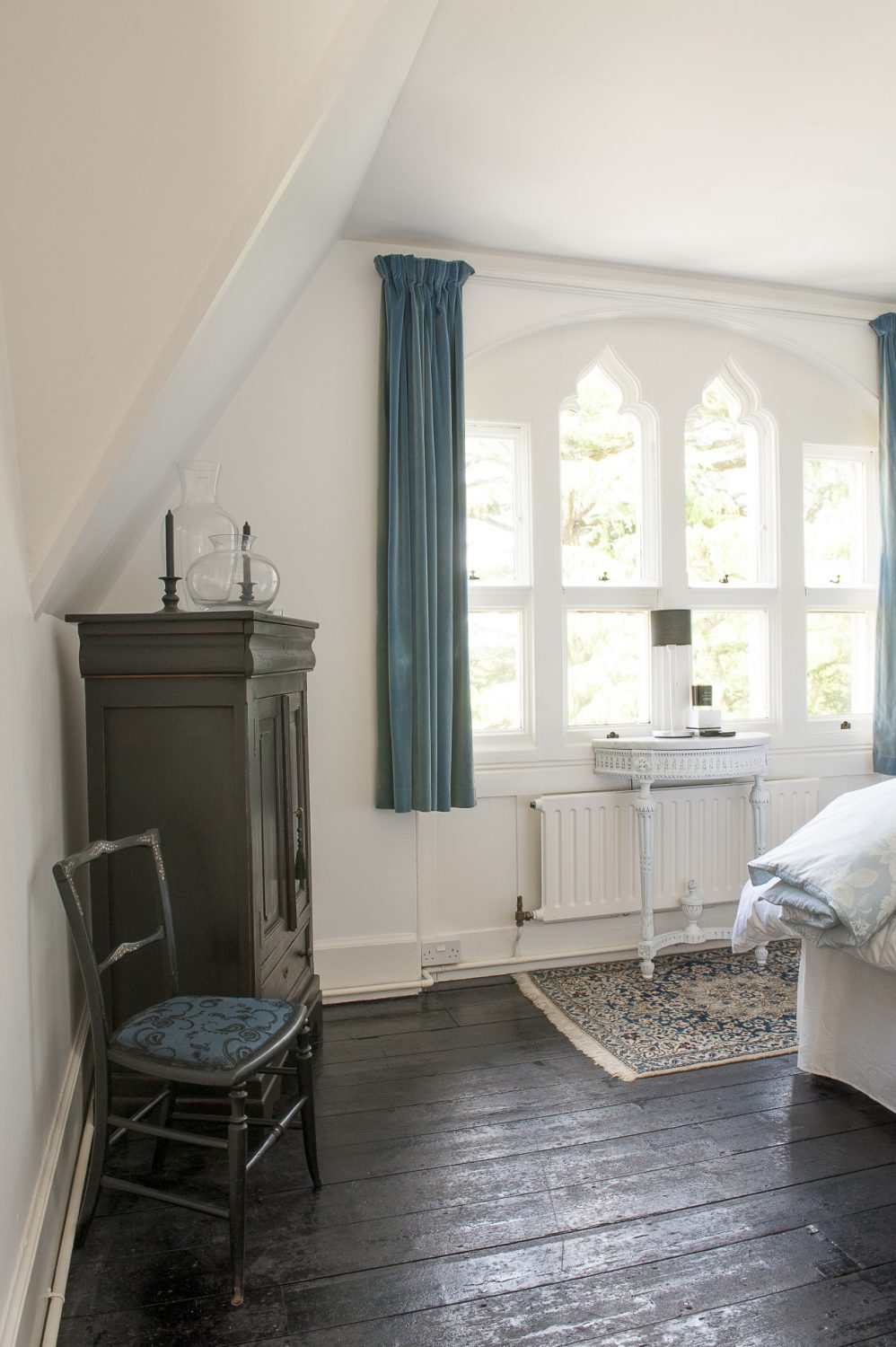 A guest room which is occasionally offered to B&B guests has been decorated in French Empire style