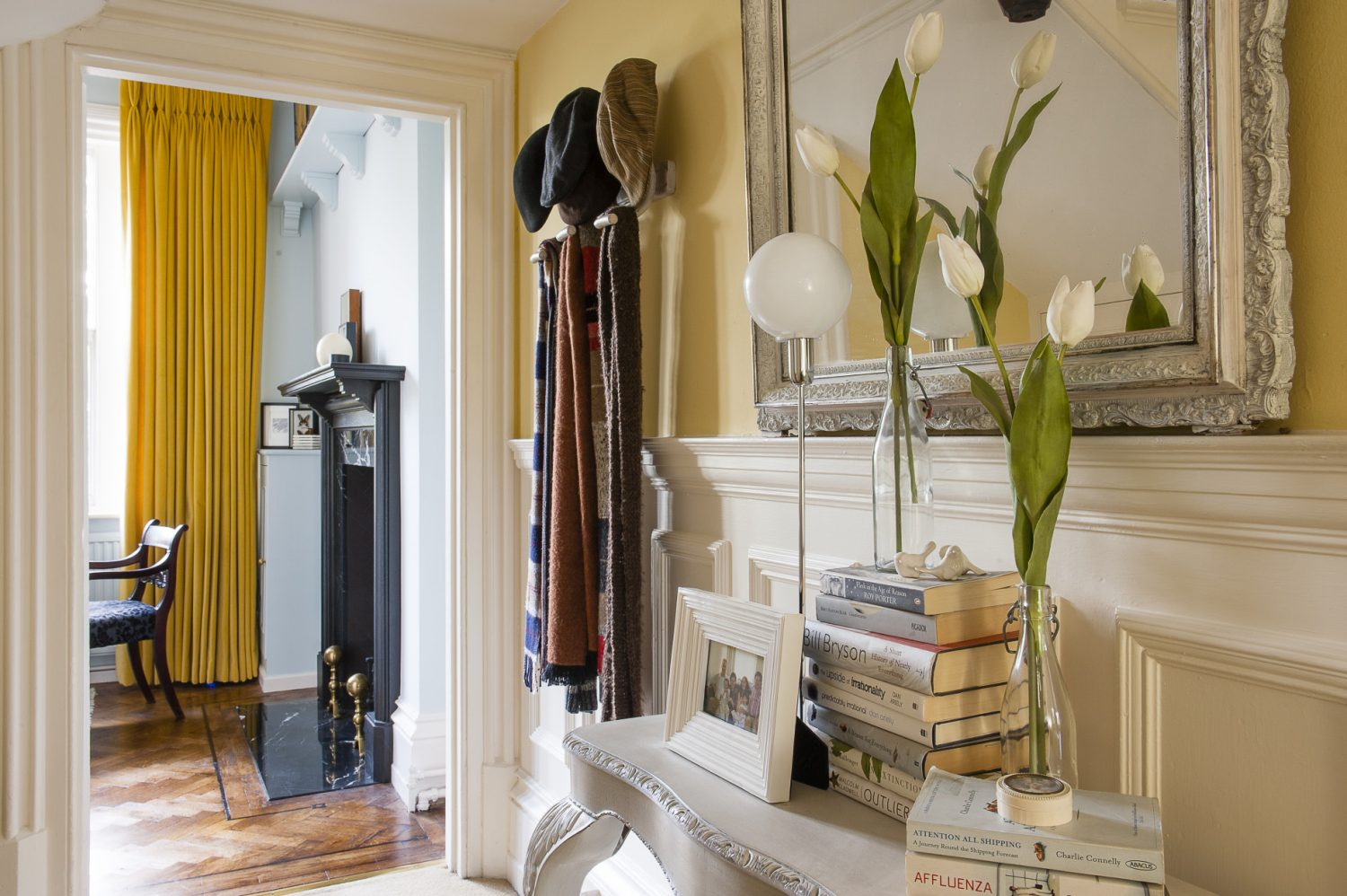 This is a house in which no two rooms are remotely the same. Styles range from contemporary cool through Victorian, Arts and Crafts and Empire and yet Dan has handled each with deft confidence