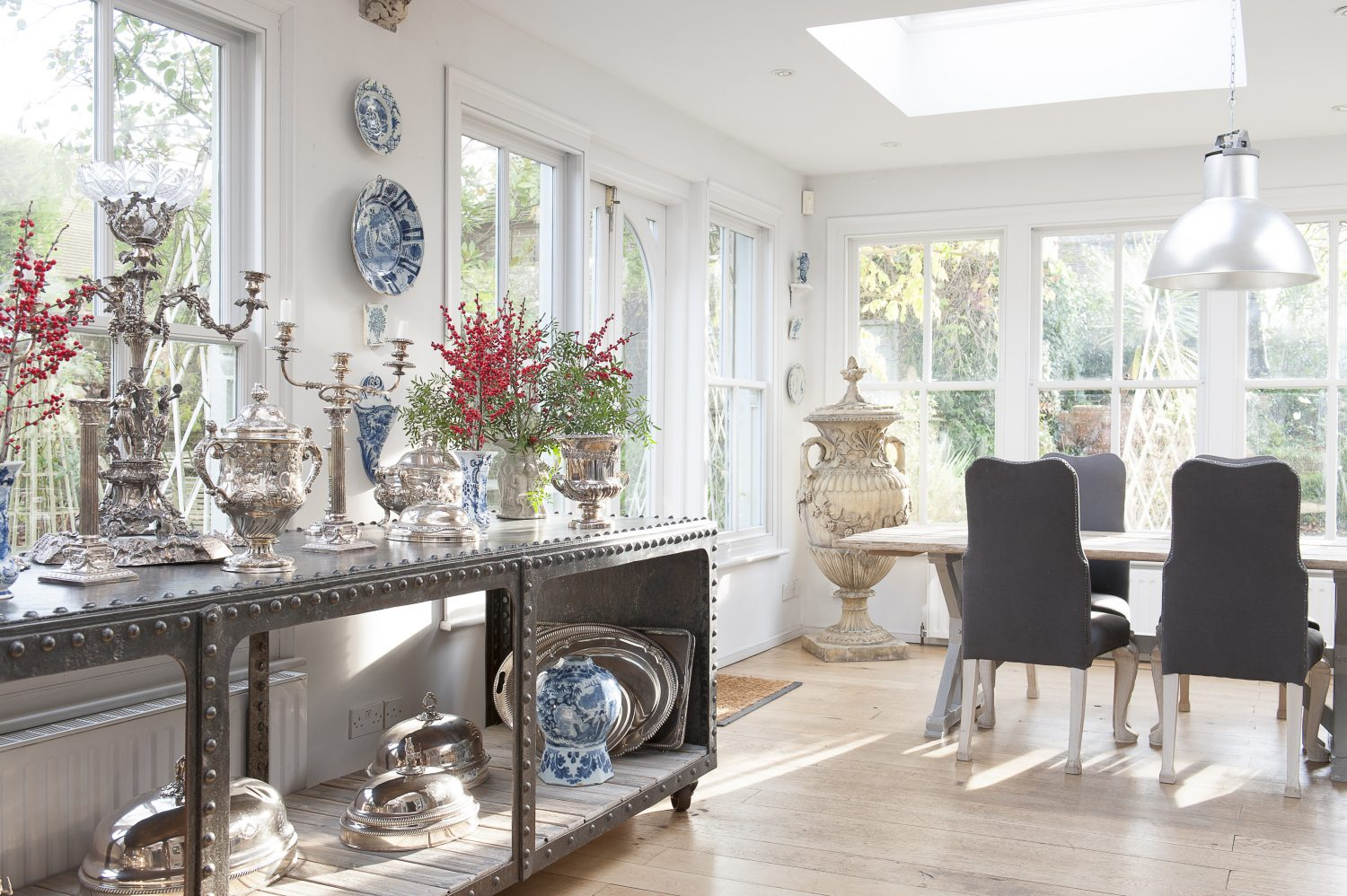 The bright and airy orangery.