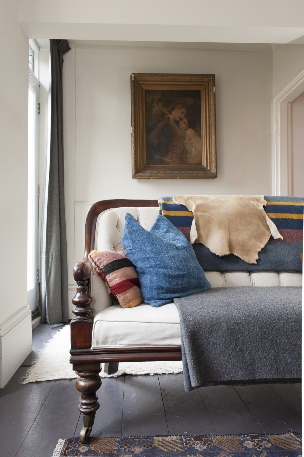 Fabrics and textures enhance the space