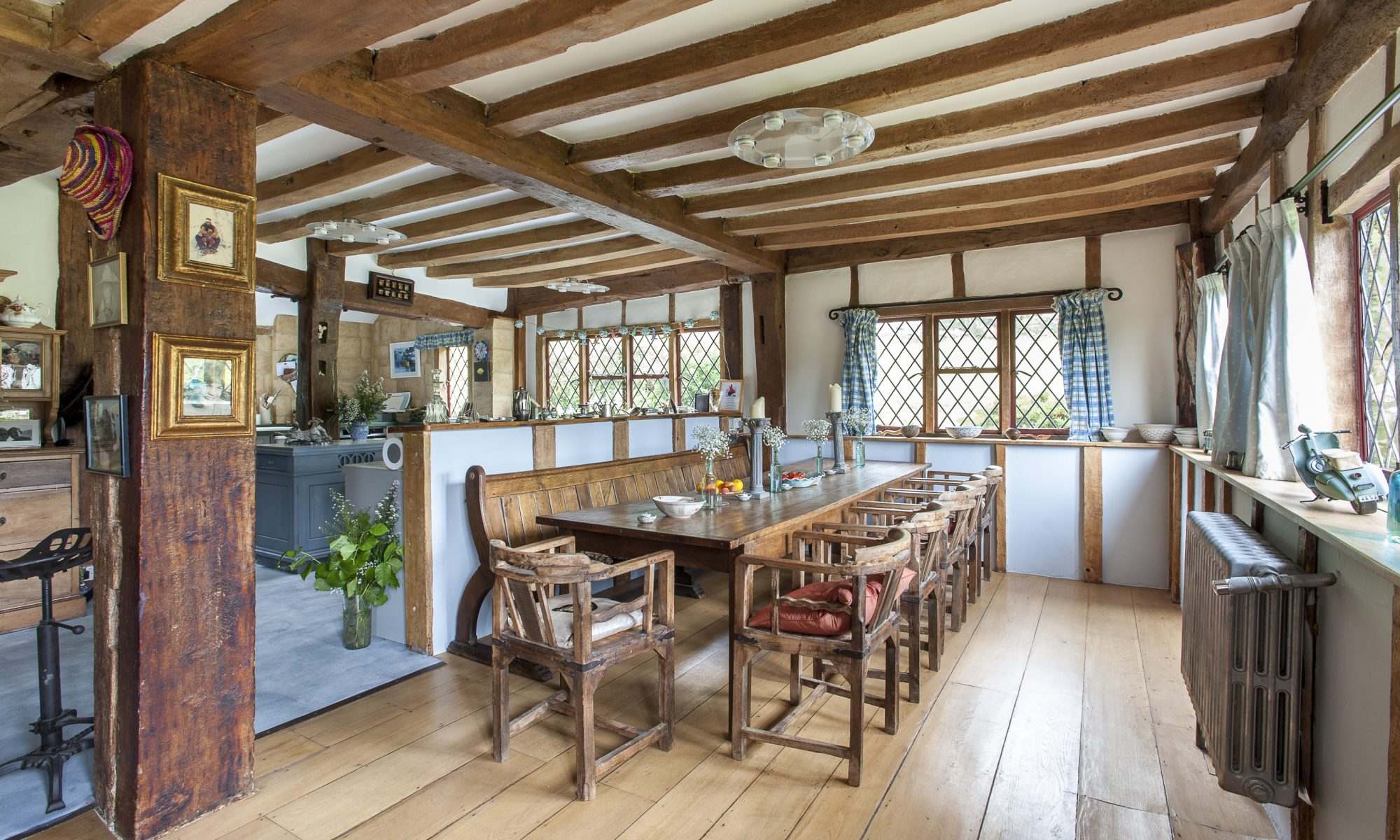 Peter and Jilly Burnet's spacious farmhouse has provided the couple with a glorious family home for over twenty years. Spread over three floors, this stunning property has borne witness to many a party, celebration and even church fêtes...