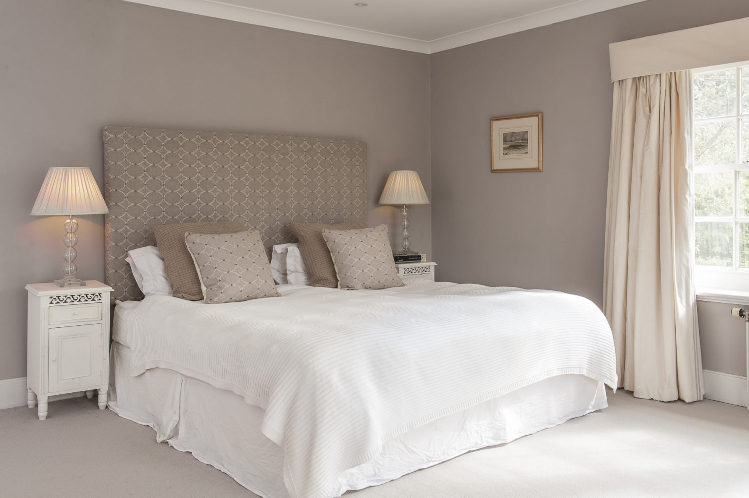 The master bedroom features a dressing room which leads through to a fabulously contemporary bathroom