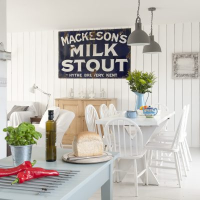 Taking inspiration from New England styling, a dated chalet bungalow nestled in the dunes at Camber Sands has been given a new lease of life