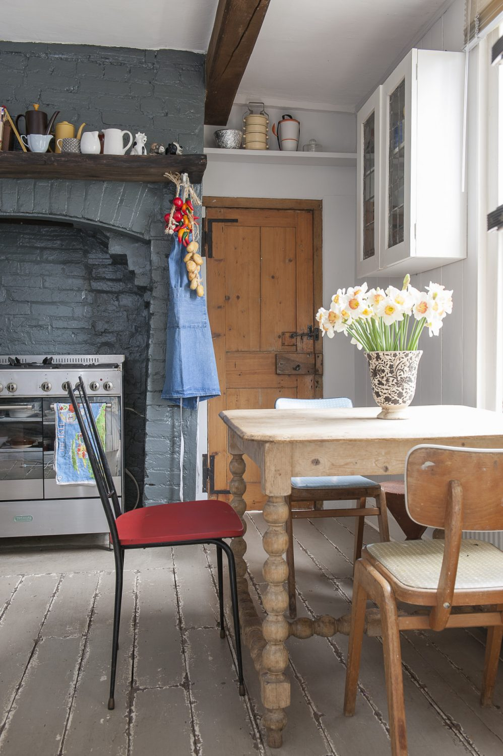 Lionel has plans to extend the kitchen space and make a feature of the fireplace which currently houses the cooker