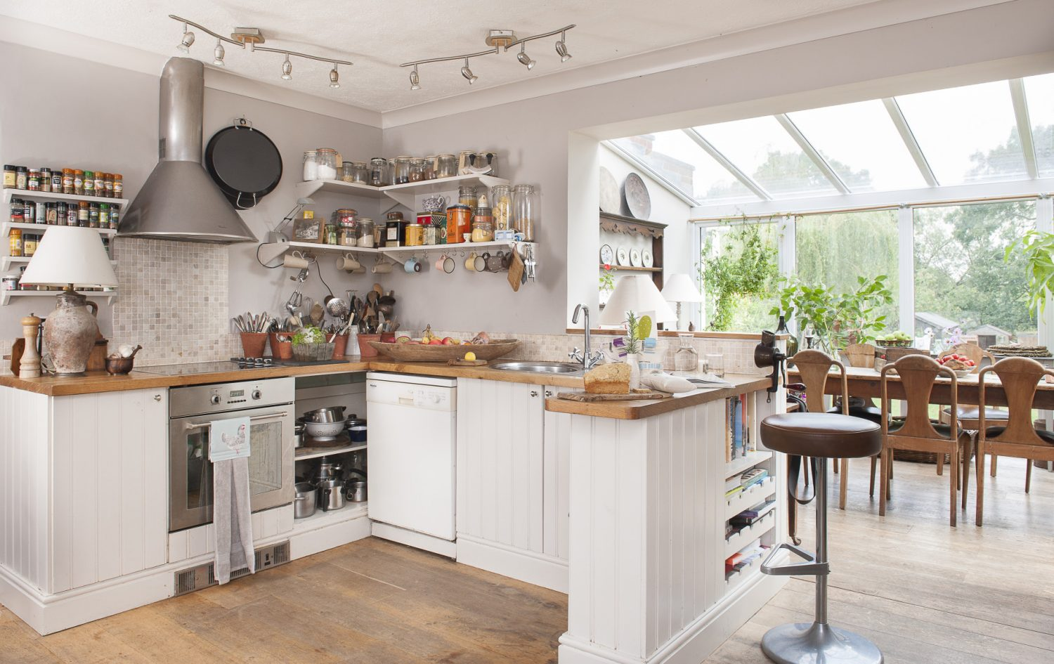 Tina's open plan kitchen and conservatory is a great space for entertaining
