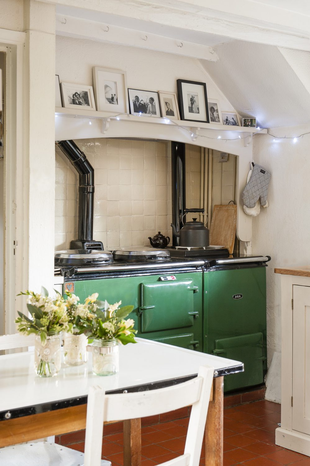 """It took a while for Roni to become accustomed to life with an Aga: """"There were a few Sunday roasts that took five hours but I've finally got the hang of it and wouldn't change it for the world."""""""