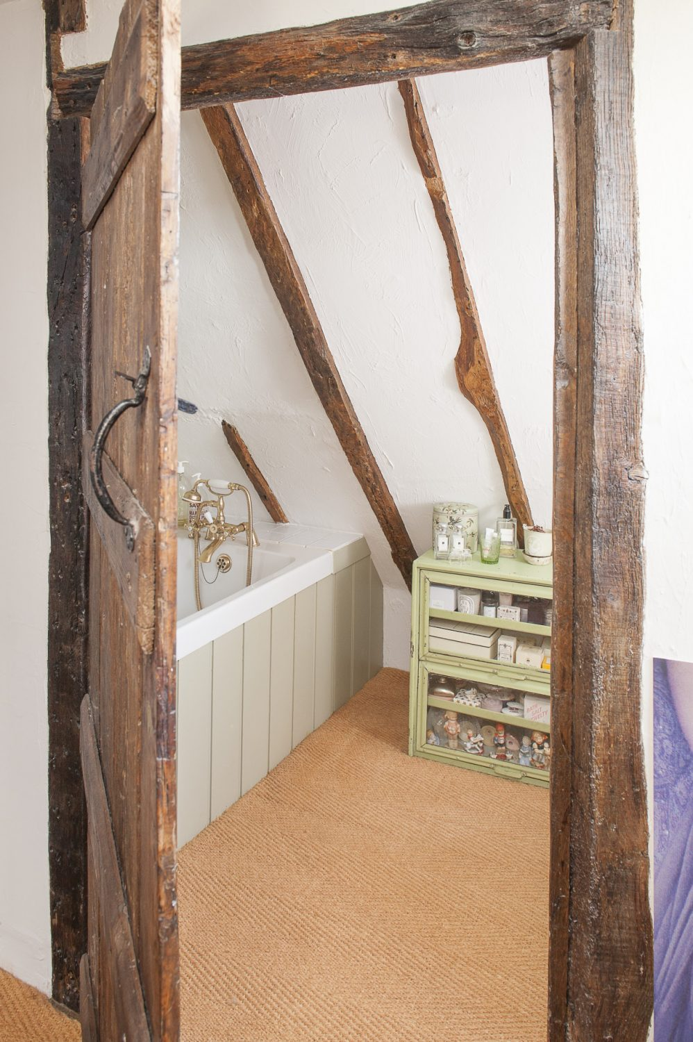The little en suite in the eaves of the house