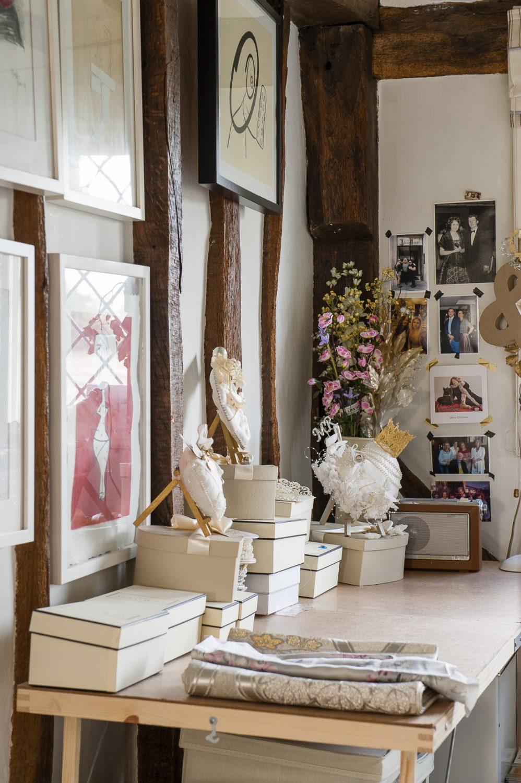 Roni's studio is a treasure trove of items for future domes