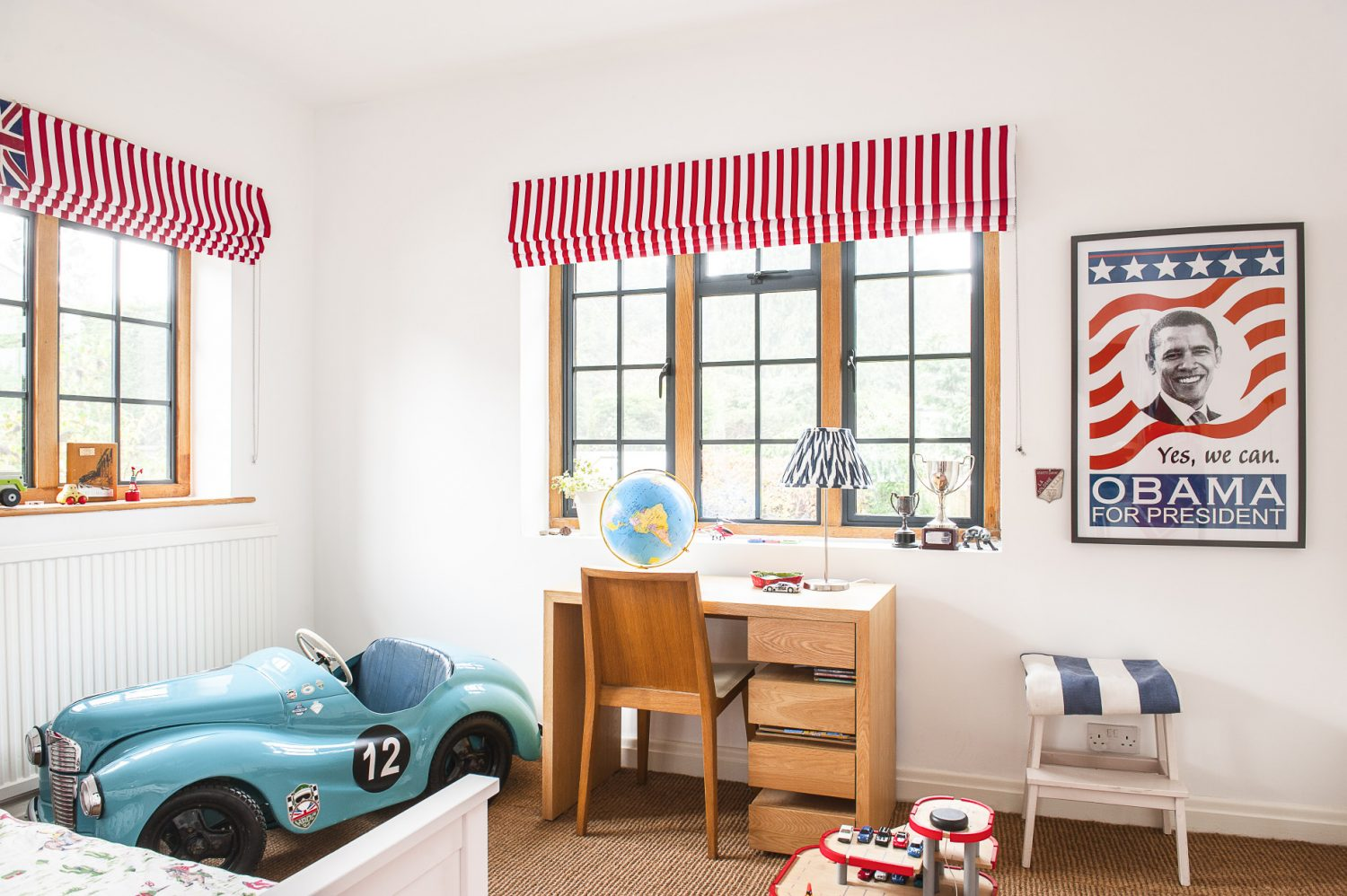 Kate and Jason's son Joe chose most of the items in his room, including the Obama poster