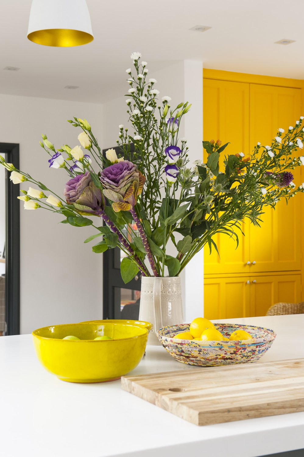 Pops of colour add to the general brightness of the rooms