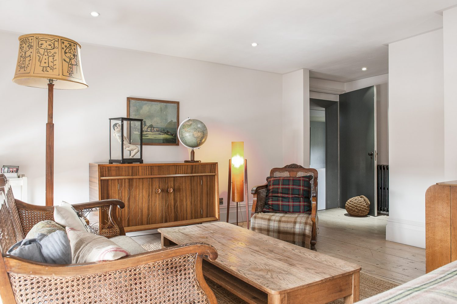 Each room has magnificent sash windows – sometimes three in a room – and gorgeous inviting beds, with a sensible number of cushions and cosy throws