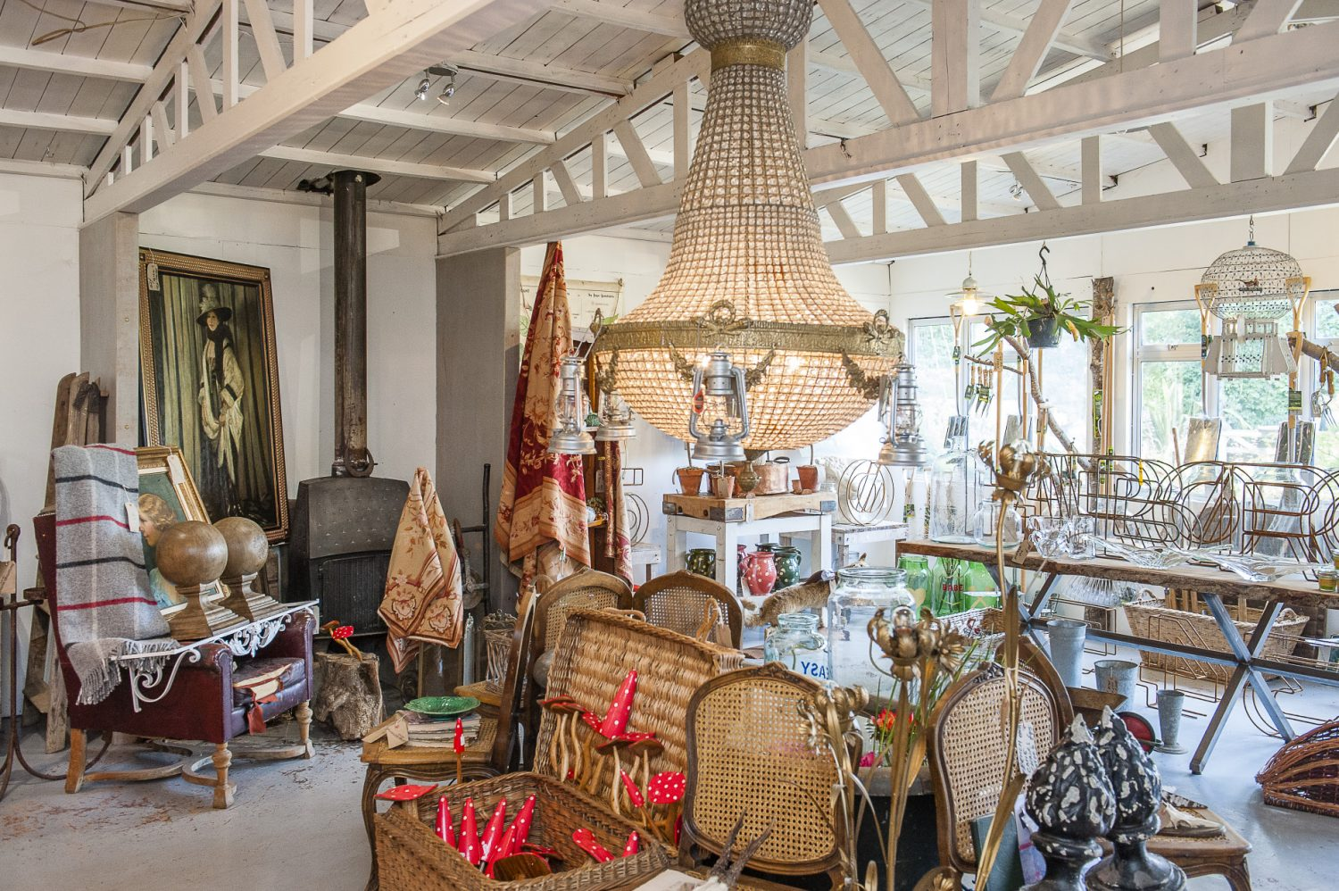 As well as a wide range of quality plants and a full garden design and planting service, there are vintage garden and homewares in the nursery shop and a separate Barnstar boutique