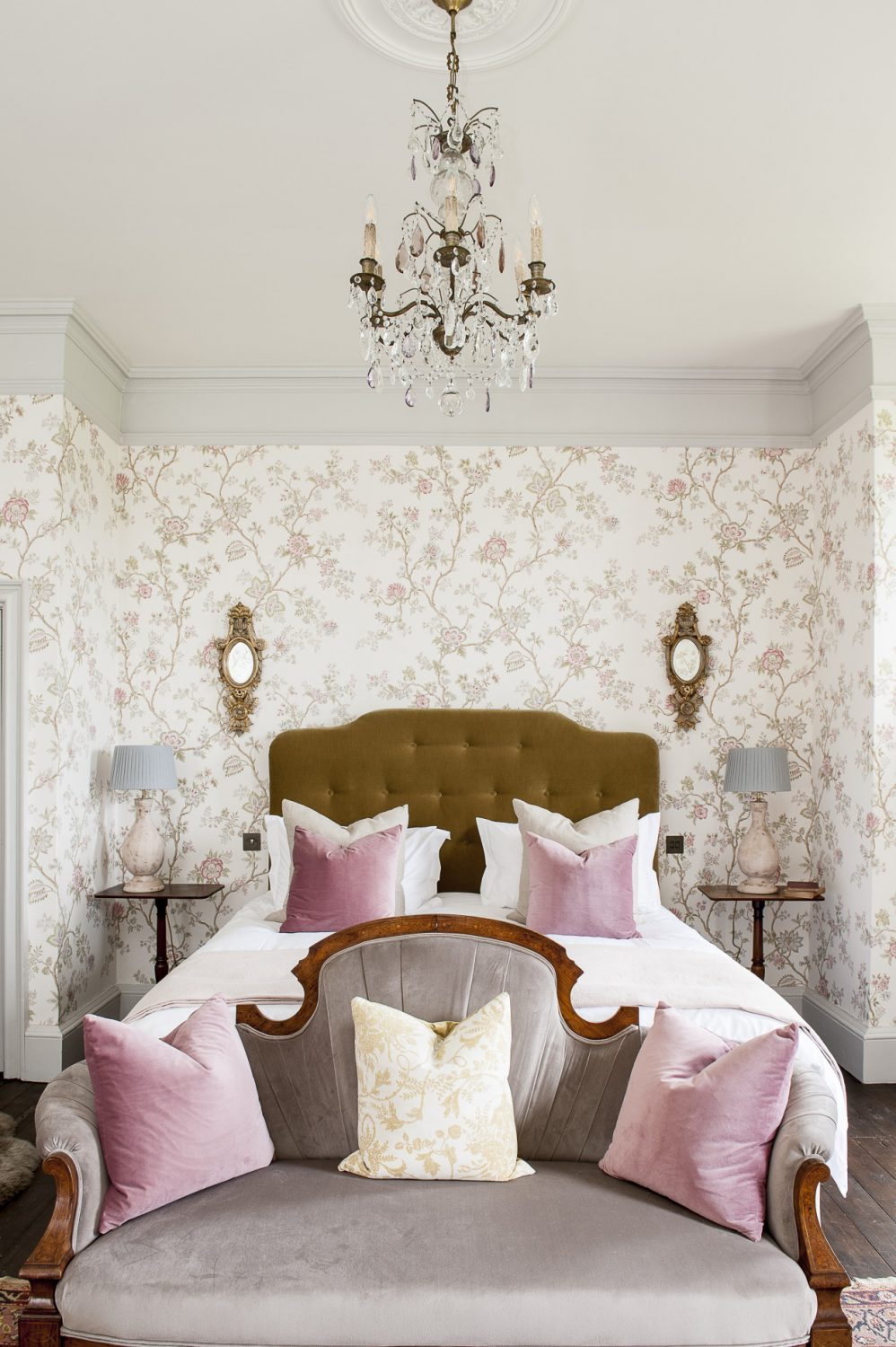 The Pink Room is papered with Lewis & Wood, Indienne
