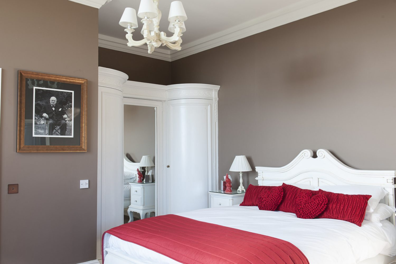 Upstairs the bedrooms have been renovated as faithfully as possible