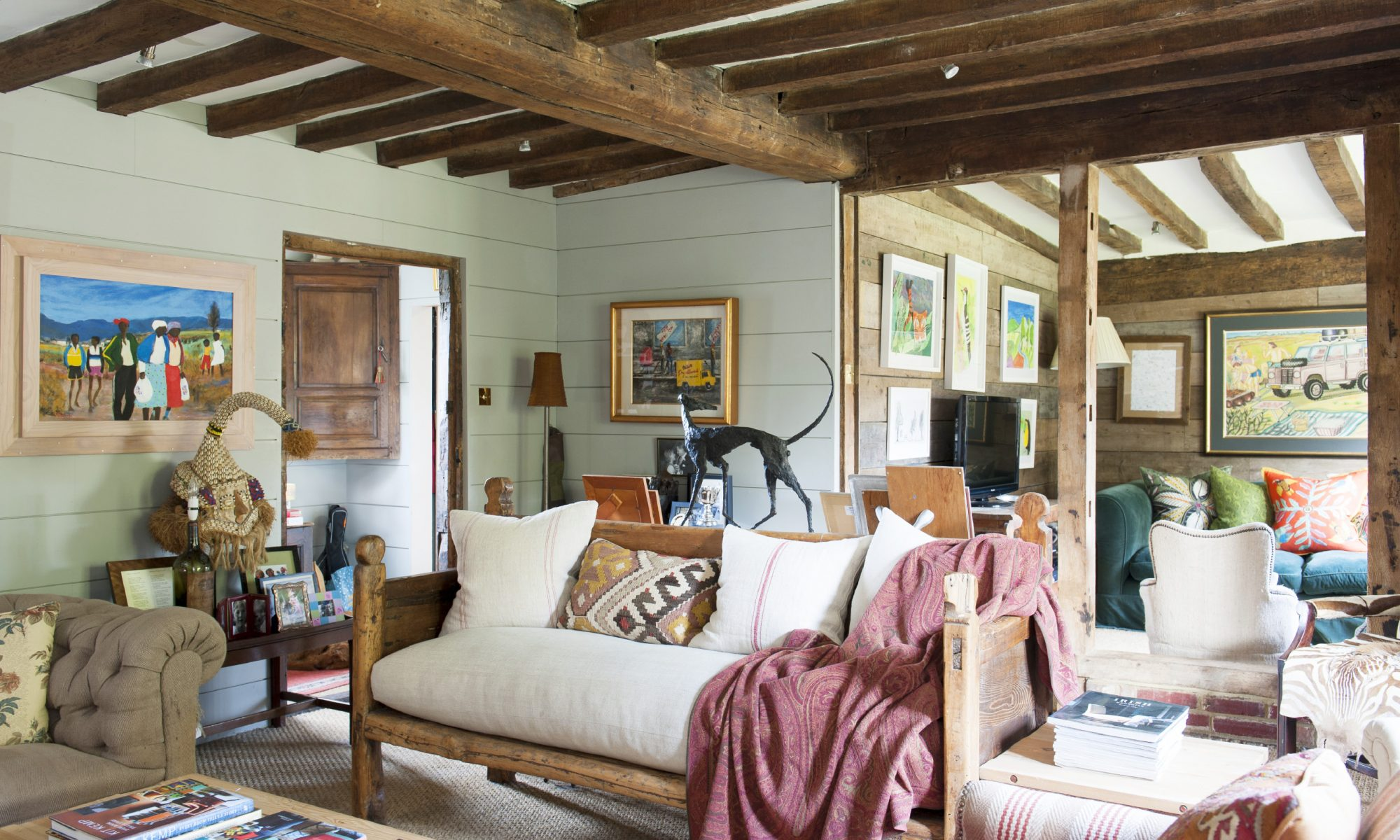 Through her inventive and unique approach to interior design, Alexis Wylie has sensitively updated her ancient farmhouse to create a quirky, yet organised, family space