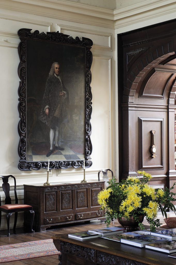 A huge triptych on the south wall shows the first Hart to own the estate, Sir Percyvall