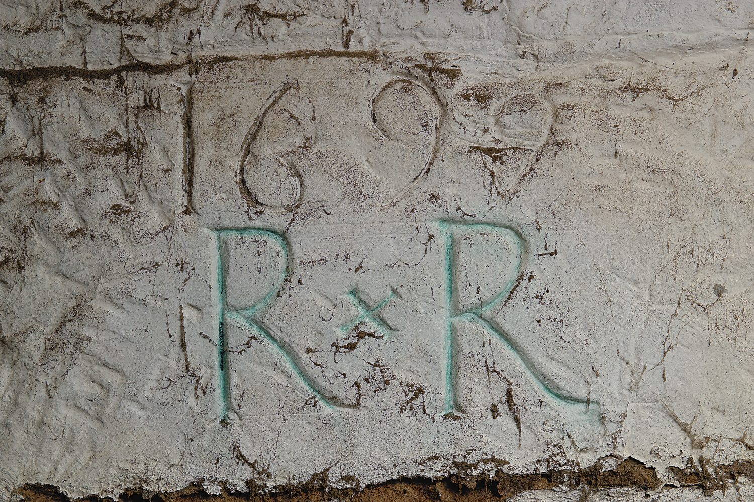 the carvings made into the cellar wall during the reign of William of Orange