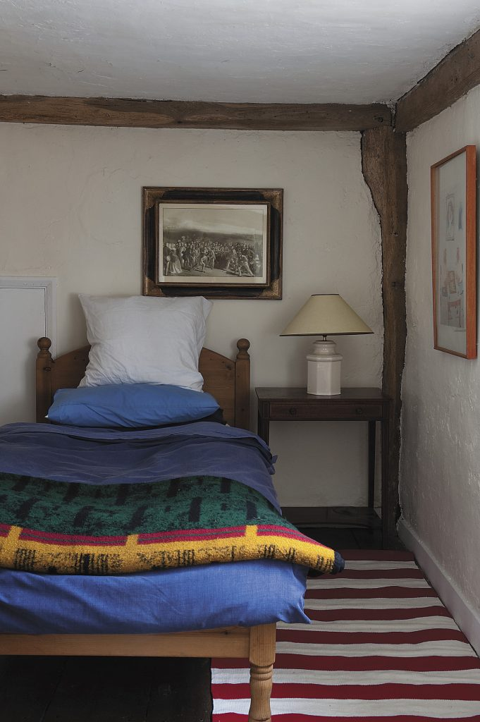 bright colours in one of the spare bedrooms