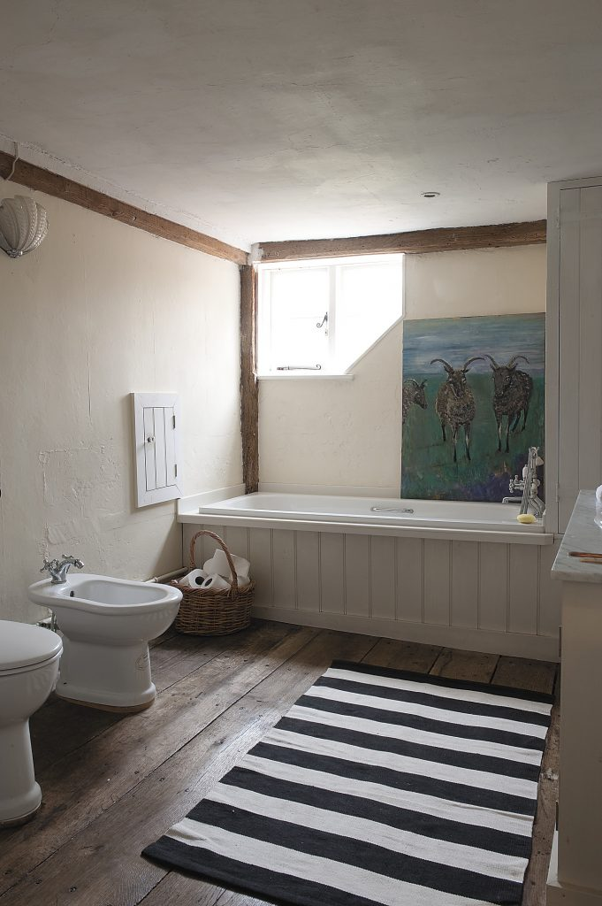 another family bathroom in more muted shades