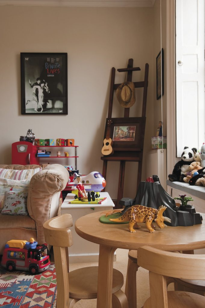 the generously proportioned playroom was used by previous tenants as a drawing room