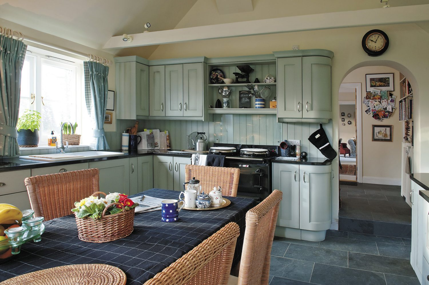 the extended kitchen was fitted by JM Kitchens bottom the original kitchen is now used as a scullery