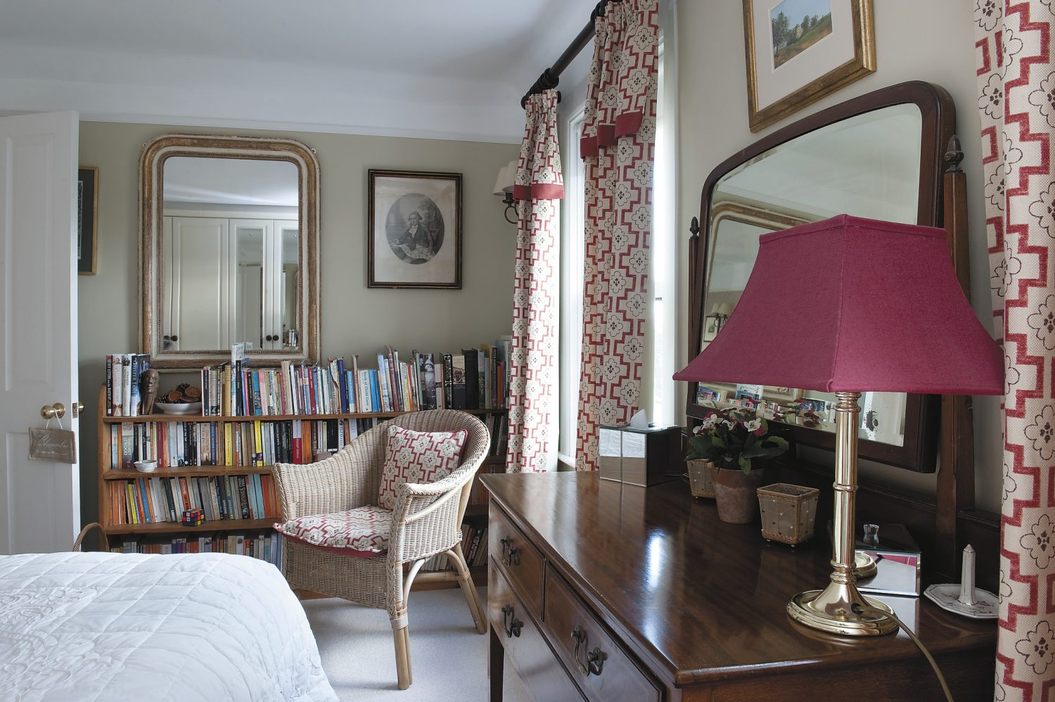 these two guest bedrooms at the back of the house both enjoy fabulous views across the Weald