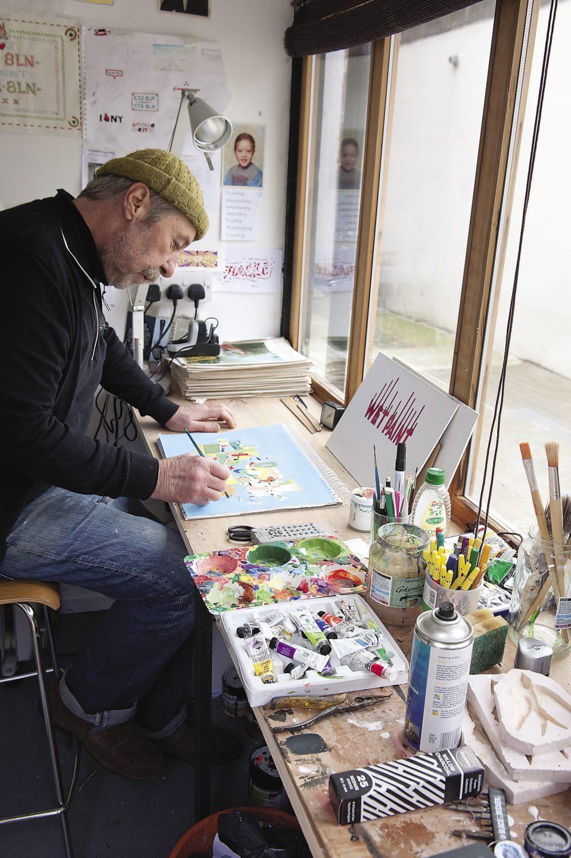 John at work in his studio