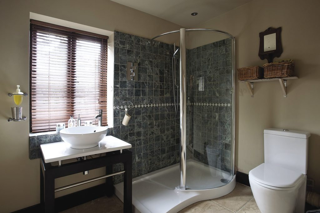 The downstairs bathroom