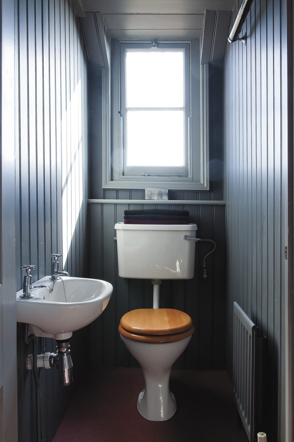 the loo has panoramic views over the Hastings roof tops