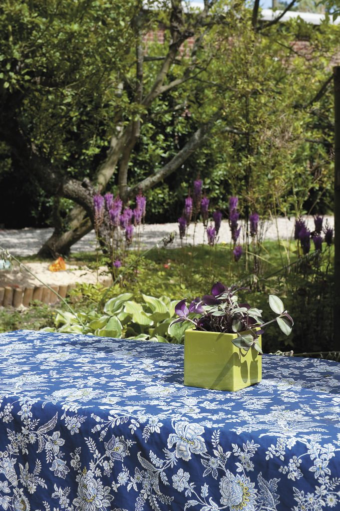 the scented, flower-filled country garden provides colour all year and, Katie assures, is so cleverly planted that it needs very little maintenance