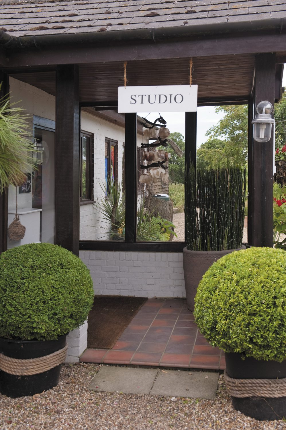Mel's workplace is part of the eclectic collection of buildings that comprise his Pluckley home