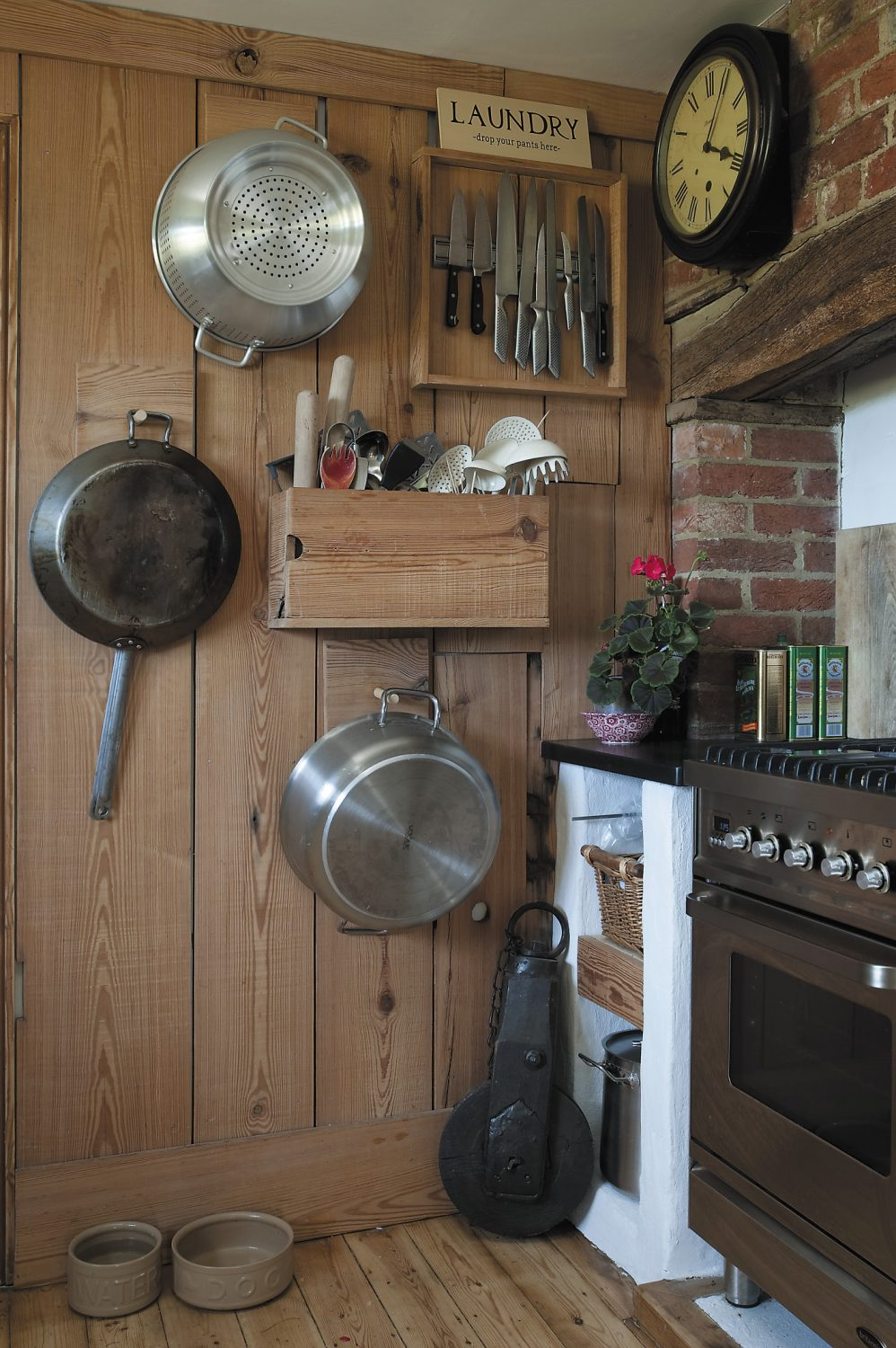 The spur for the kitchen renovation was the size of the original Aga – and appetites of Mel and Lizzie's six children