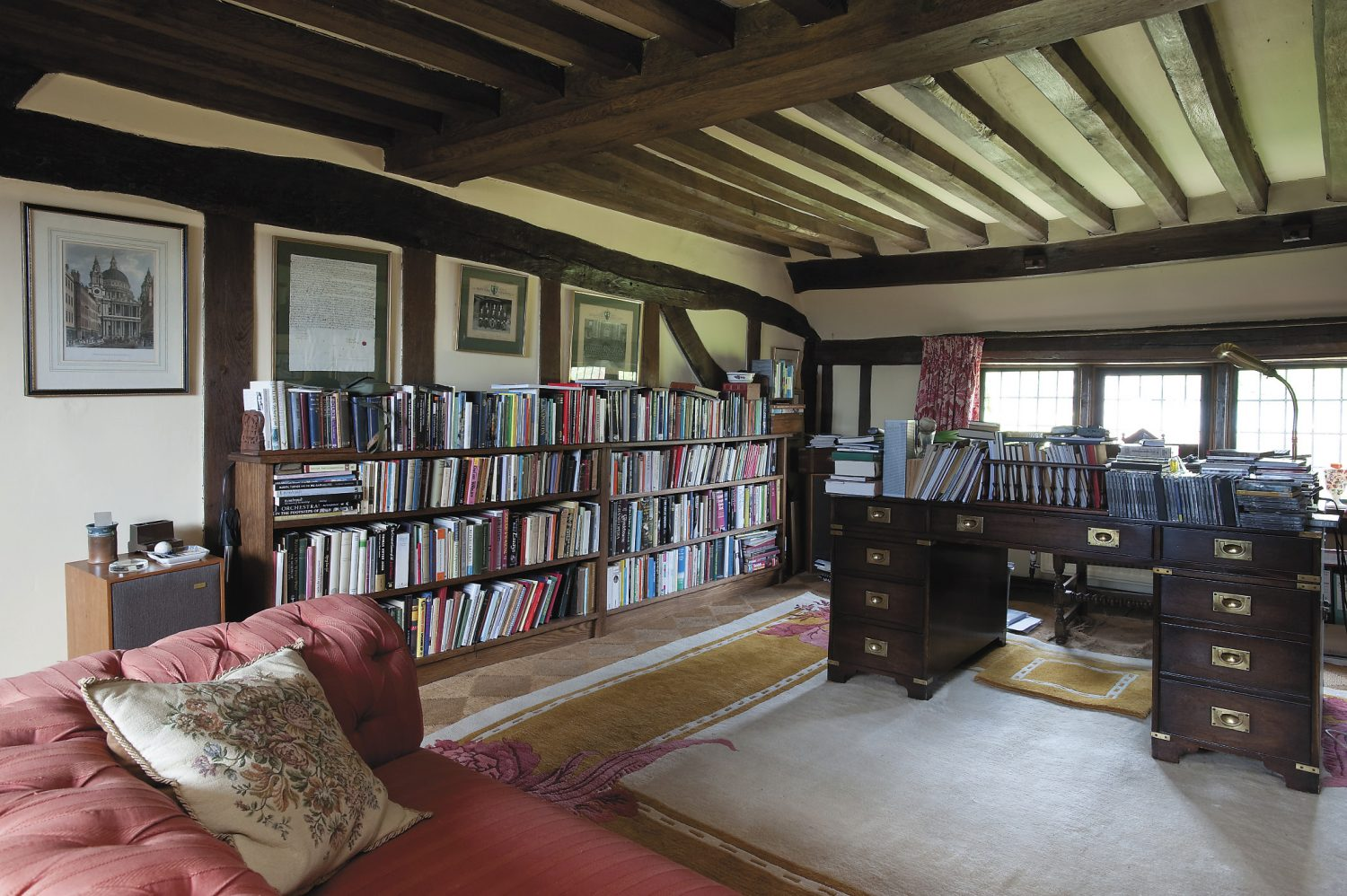 the upstairs study which was once a guests' breakfast room